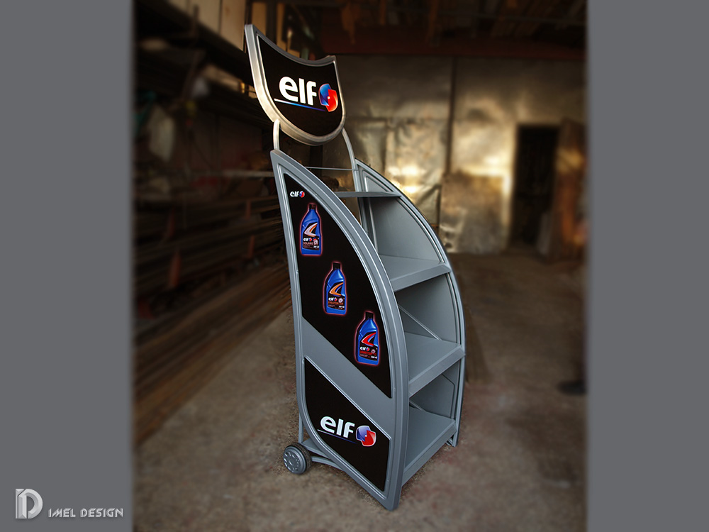 Product stand   for motor oil ELF