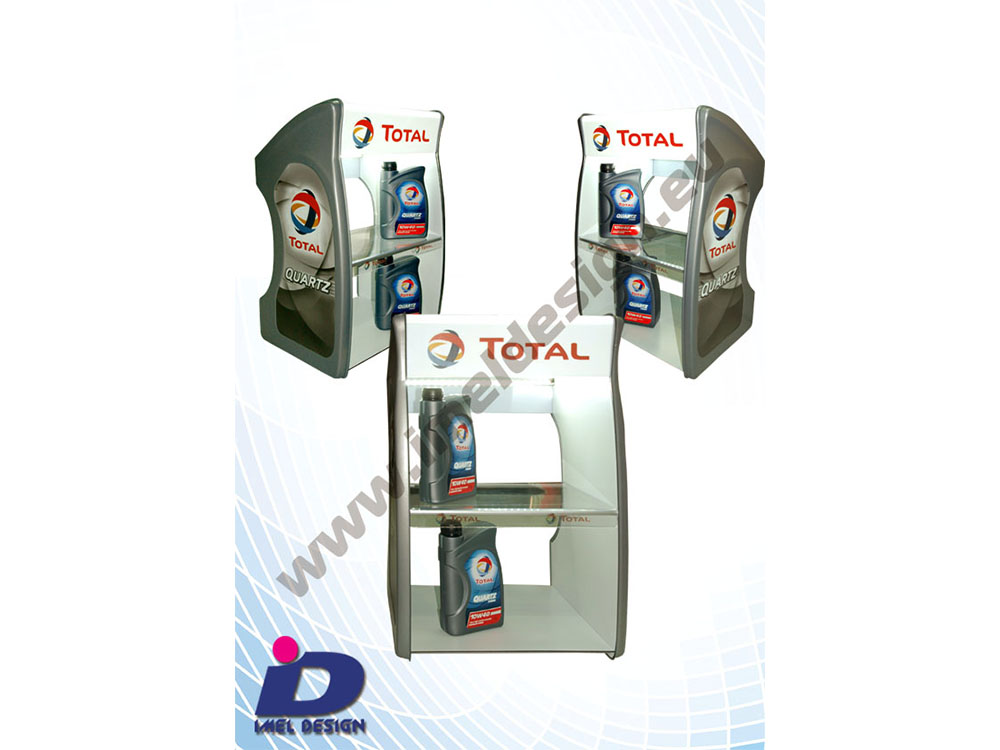 Product stand for motor oil Total