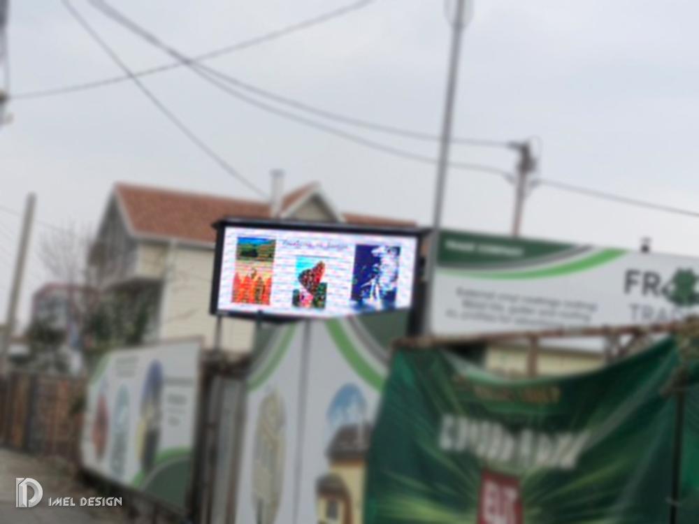 Outdoor-Led-Bildschirm P6, 120x220 cm