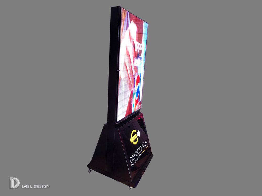 Polschild mit LED-Bildschirm P2.5